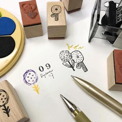 evakaku Rubber Stamp Set - Flora