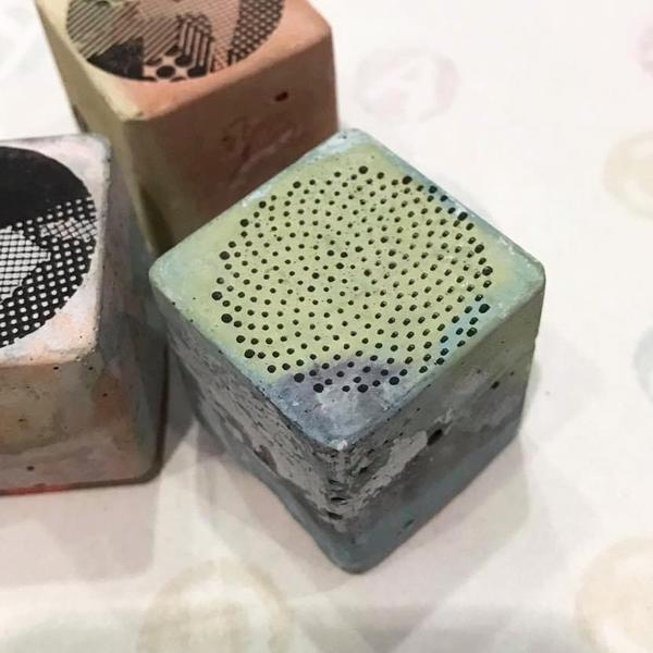 Cement Rubber Stamp - Shape Series