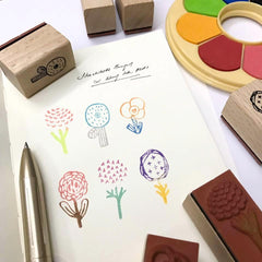 evakaku Flora Rubber Stamp Set
