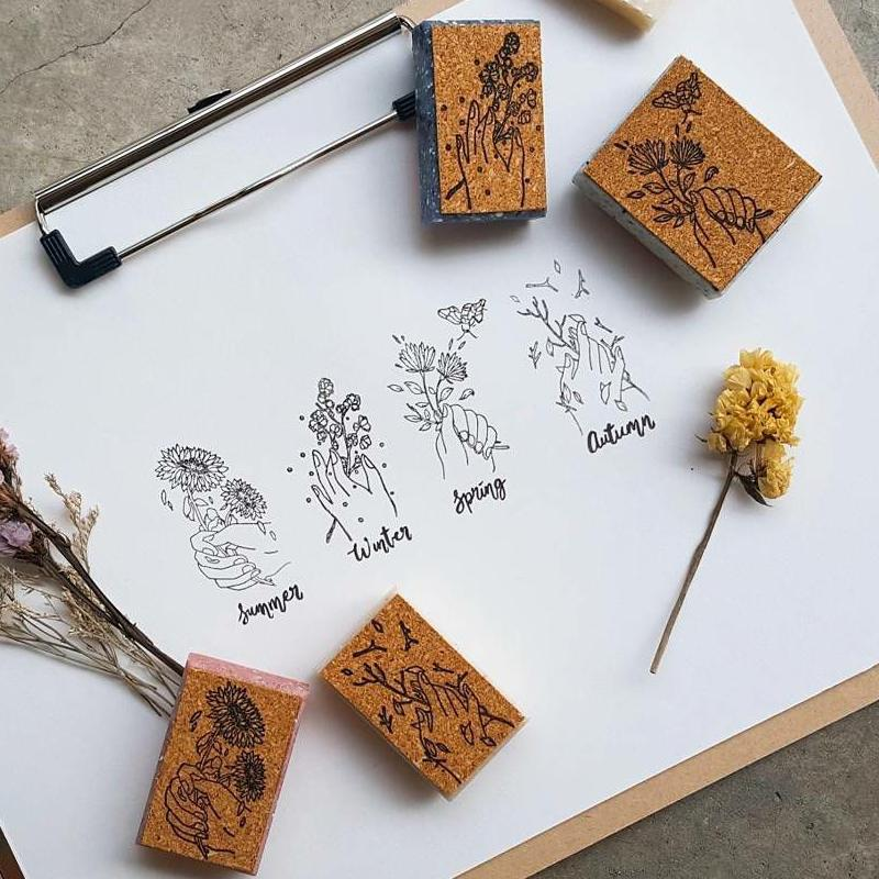 [Discontinued] Kurukynki Four Seasons Rubber Stamps