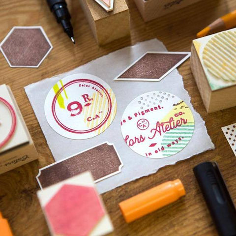 OURS Geometric Shape Rubber Stamps Set