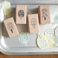 evakaku Rubber Stamp Set - Tree