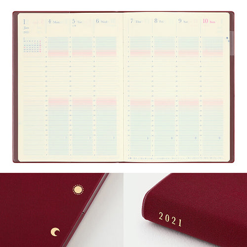 MD Day Length Gradation Diary 2021 - Dark Red