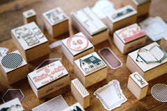 OURS Geometric Shape Rubber Stamps Set II