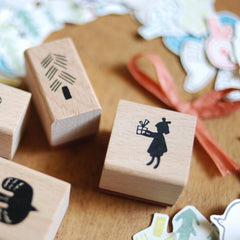 [Discon.] evakaku A Rubber Stamp - Little Girl