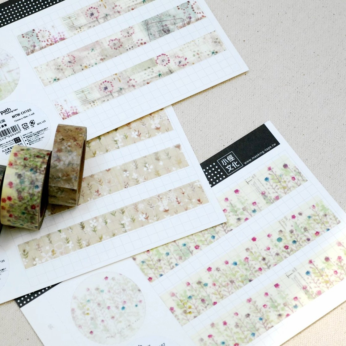 Chamil Garden Season of Flowers Washi Tapes