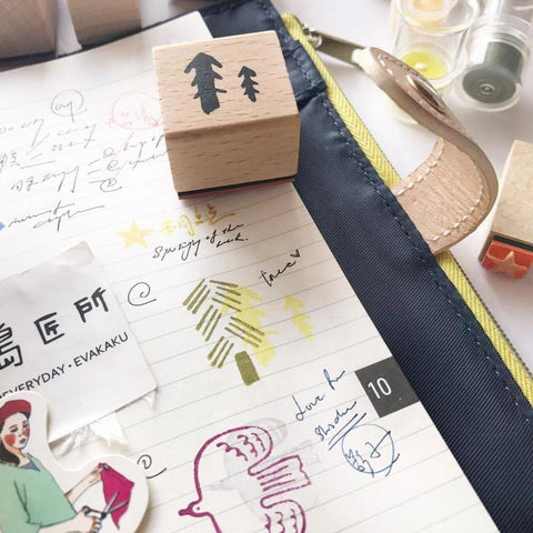 evakaku A Rubber Stamp - Tree