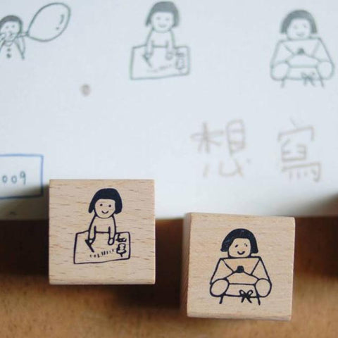 [Discon.] evakaku Want To Write Rubber Stamps Set