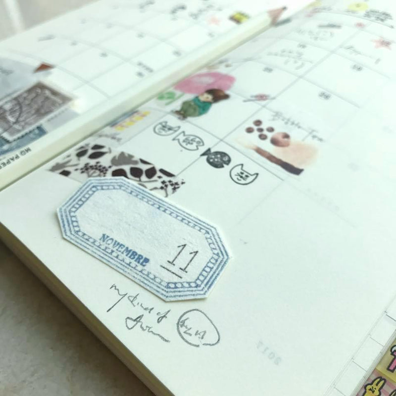 LampxPaperi Calendar (Monthly & Daily) Label Stickers in Tin