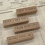 B610 Word Label Rubber Stamp