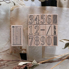 LCN Daily Ticket Rubber Stamps Set