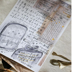 LCN Vintage-Pattern Washi Sticker Sheets/30pcs