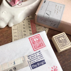 Postage Stamp Rubber Stamp