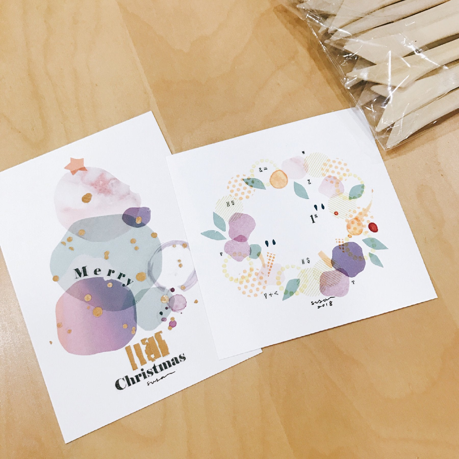 [Discontinued Item] MU Print-On Stickers - Rainbow After Rain/ 3pcs Gift Set