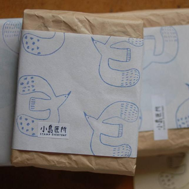 [Limited Edition] evakaku A Rubber Stamp - Big Bird (L/R)
