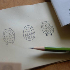evakaku Owl Rubber Stamps Set
