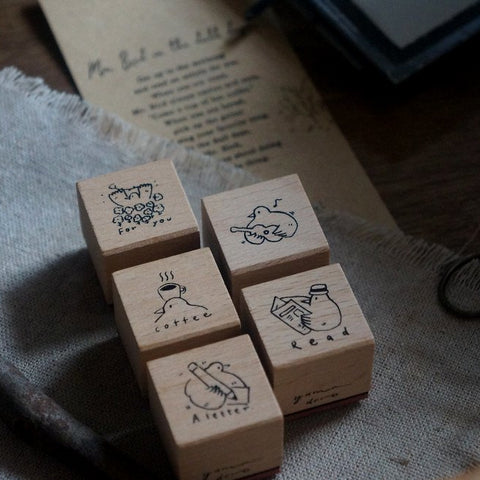 Yamadoro Rubber Stamp Set - Mr.Bird In the Dull Days