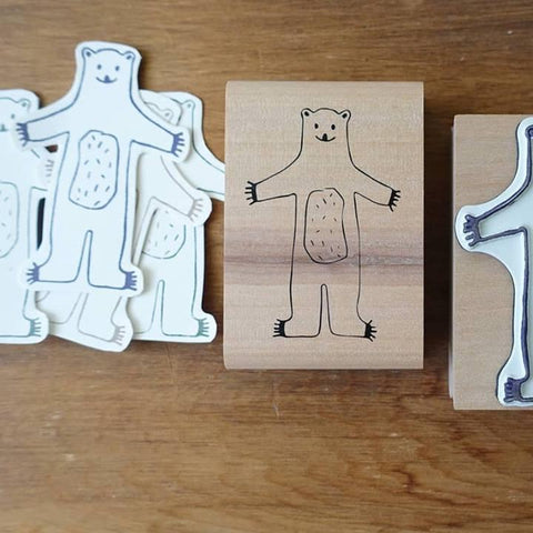 evakaku A Rubber Stamp - bear Bear