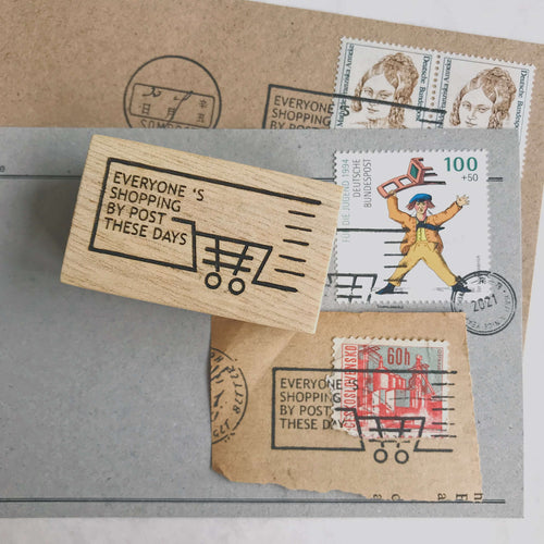 Postmark Cancellation Rubber Stamp - Shopping by Post
