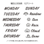 MD Paintable Rotary Stamp - Days and Weather