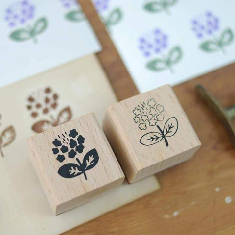 evakaku Rubber Stamp Set - Summer Flower