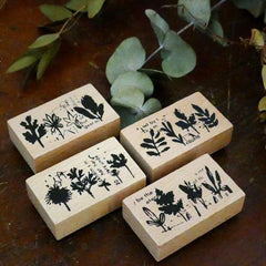 Chamil Garden 5th Anniversary Rubber Stamp Set - Leaf