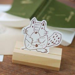 evakaku A Rubber Stamp - Autumn Squirrel
