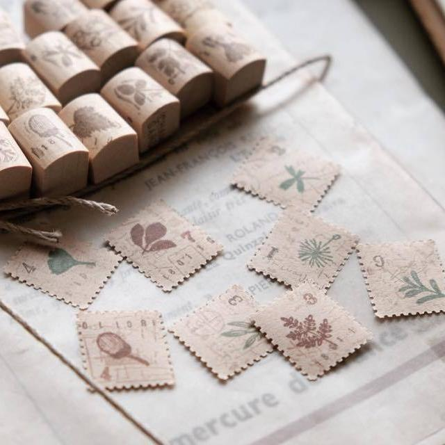 Chamil Garden 5th Anniversary Rubber Stamp Set - Material