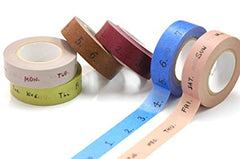 Classiky Number Washi Tape