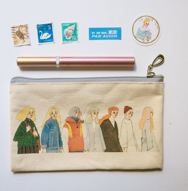 LDV Walking Together Canvas Pencil Case