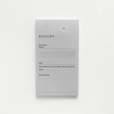 KNOOP Receipt Book (English)
