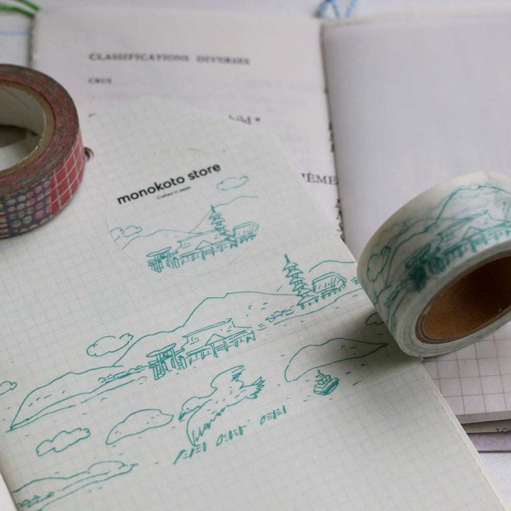 monokoto store x Seiko Sketch Washi Tapes - (City/Islands)