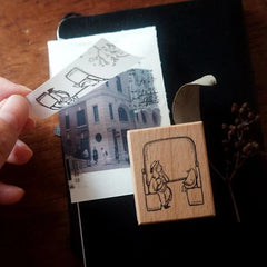 Yamadoro Rubber Stamp Set - A Travel Day