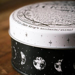 LCN Metal Storage Box - Moon Phase (Round Tin)
