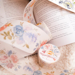 Meow Illustration Washi Tape - Magical Blossom