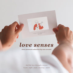 """Love Senses"" Clear Film Postcards"