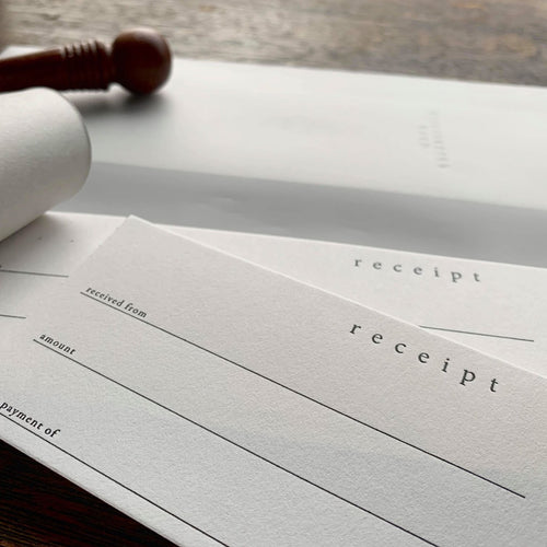 Oeda Letterpress Money Receipt