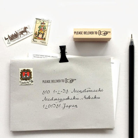 KNOOP Original Rubber Stamp - Please deliver to