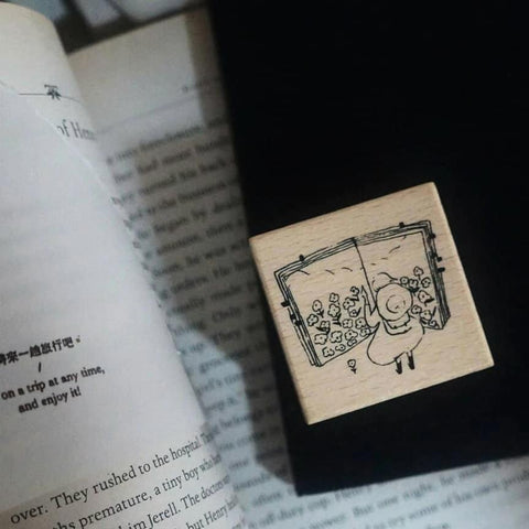 Yamadoro Rubber Stamp - Travel in the Book