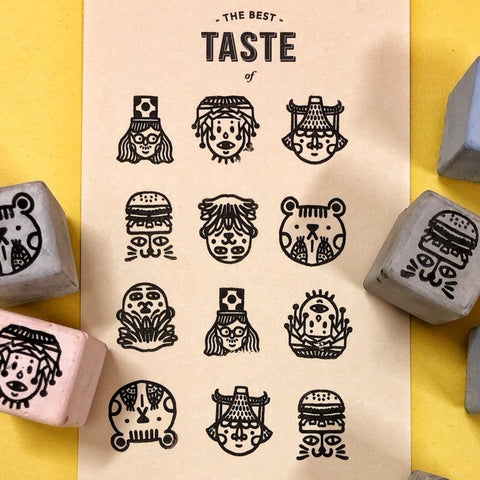 Cement Rubber Stamp - Various Look Set