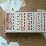 evakaku Rubber Stamp Set - Simple Dots & Lines