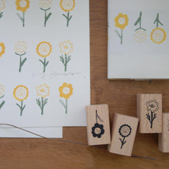 evakaku Rubber Stamp Set - Flora II