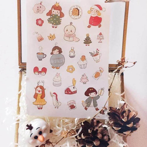 msbulat Sticker Sheet - Lovely Christmas