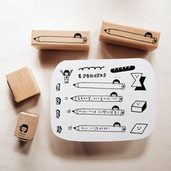 Yohand Studio Rubber Stamp Set - A Box of Shapes