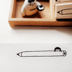 Yohand Studio Rubber Stamp - with Pencil