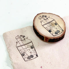 Black Milk Project Rubber Stamp - Cosmos/Happy Boba