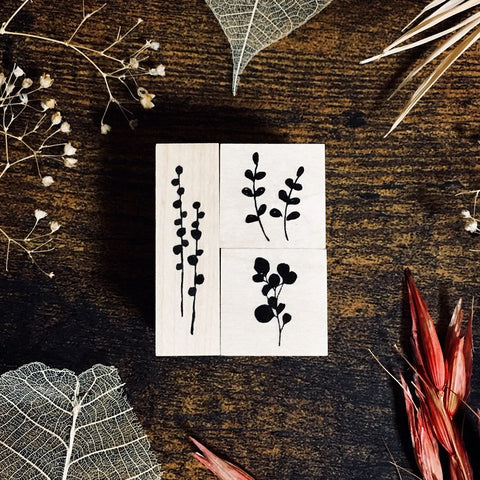 OHS Botanical Rubber Stamp III - Mini Botanical