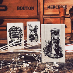 OHS Cozy Neighbourhood Rubber Stamp