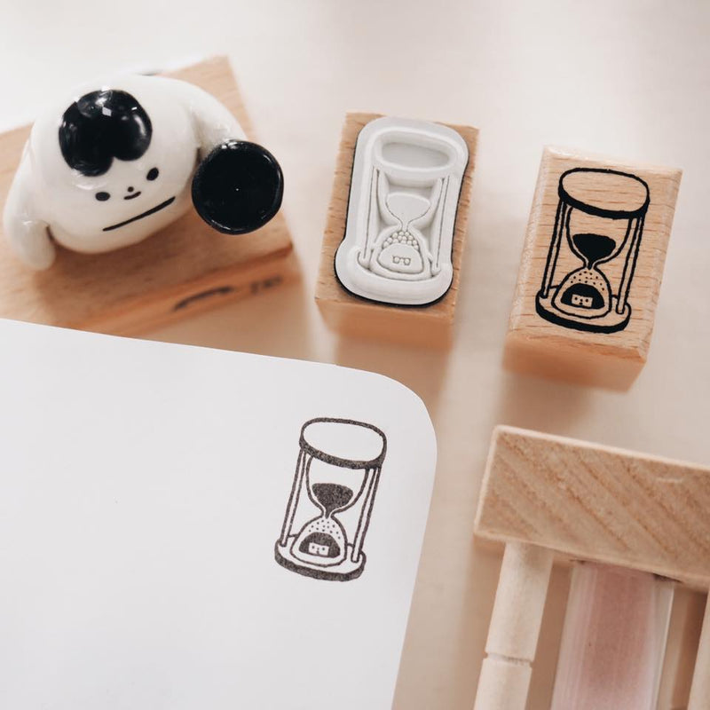 Yohand Studio Rubber Stamp - with Hourglass