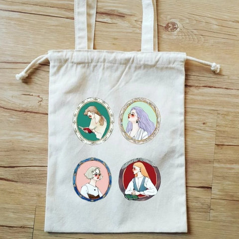 [Limited Edition] LDV Old-School Life Drawstring Canvas Bag
